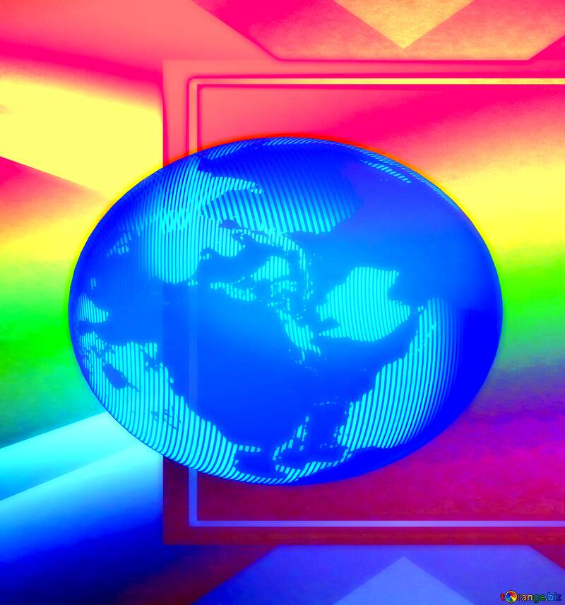 Rainbow global world colors background №43241