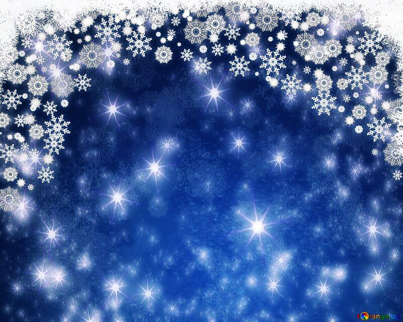 Snowflakes night star blue  background №40659