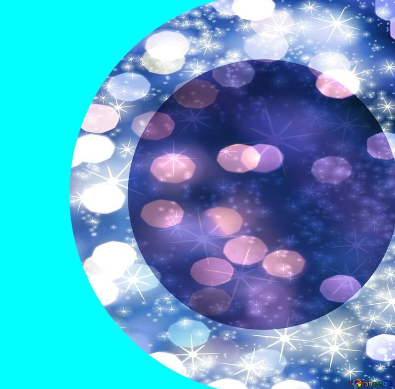 template circle blue №54770