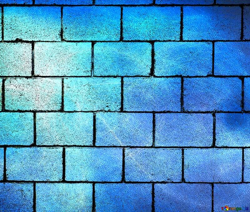 Blue wall blocks background №40636