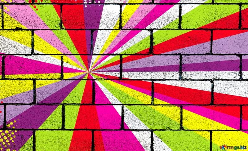 Colors rays wall blocks №49661