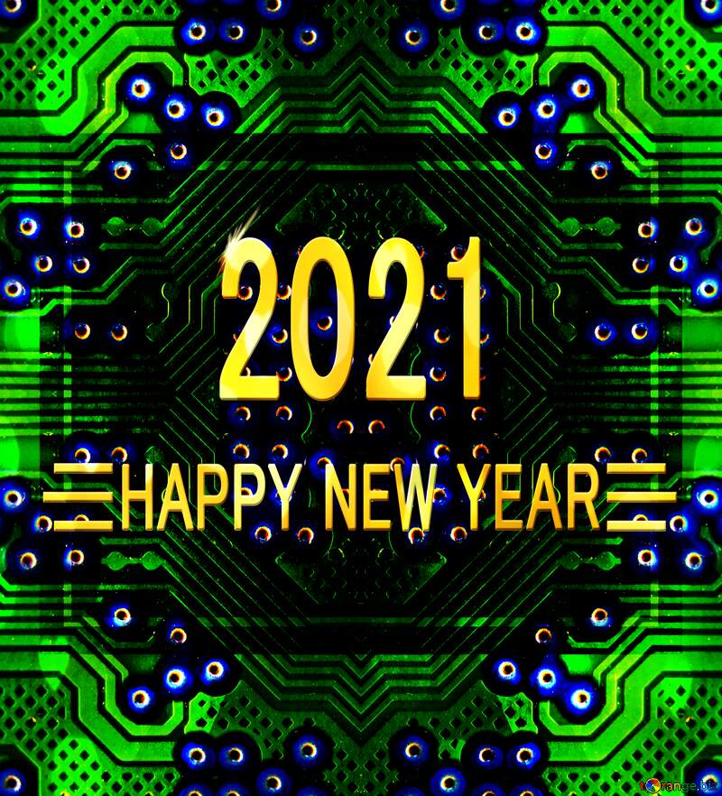computer design happy new year 2021 №51569