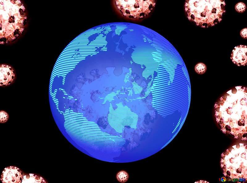 Corona virus global earth planet №54739