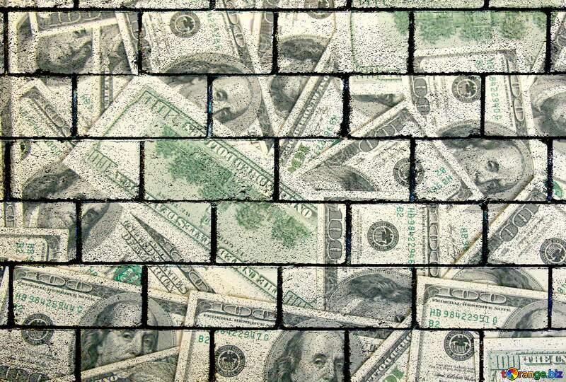 Dollars wall blocks №1506