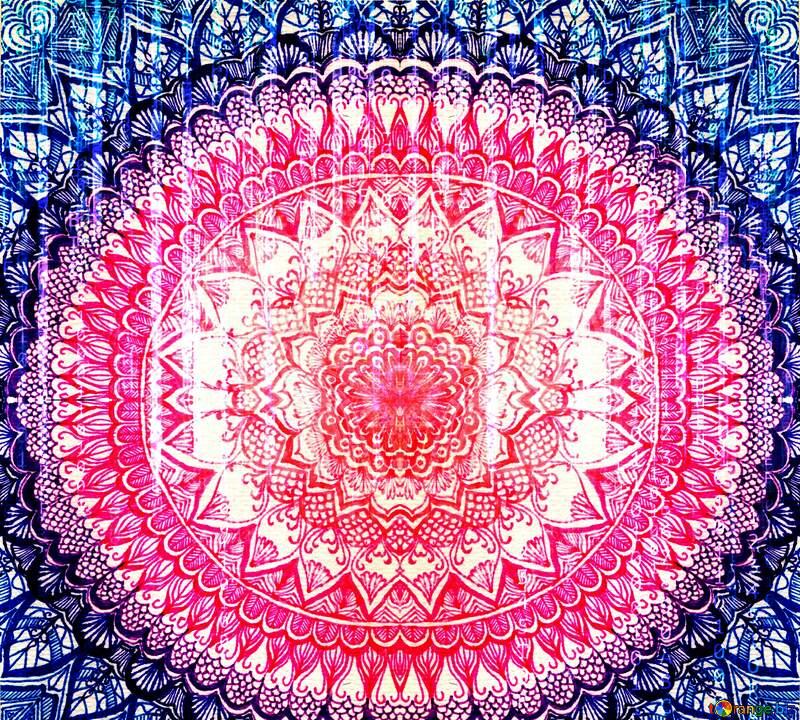 Drawing mandala matrix style №54775