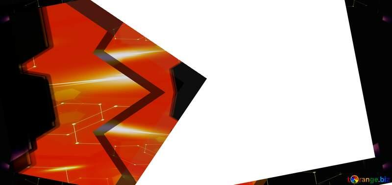 Frame opacity Youtube thumbnail transparent background technology red hot orange №54832