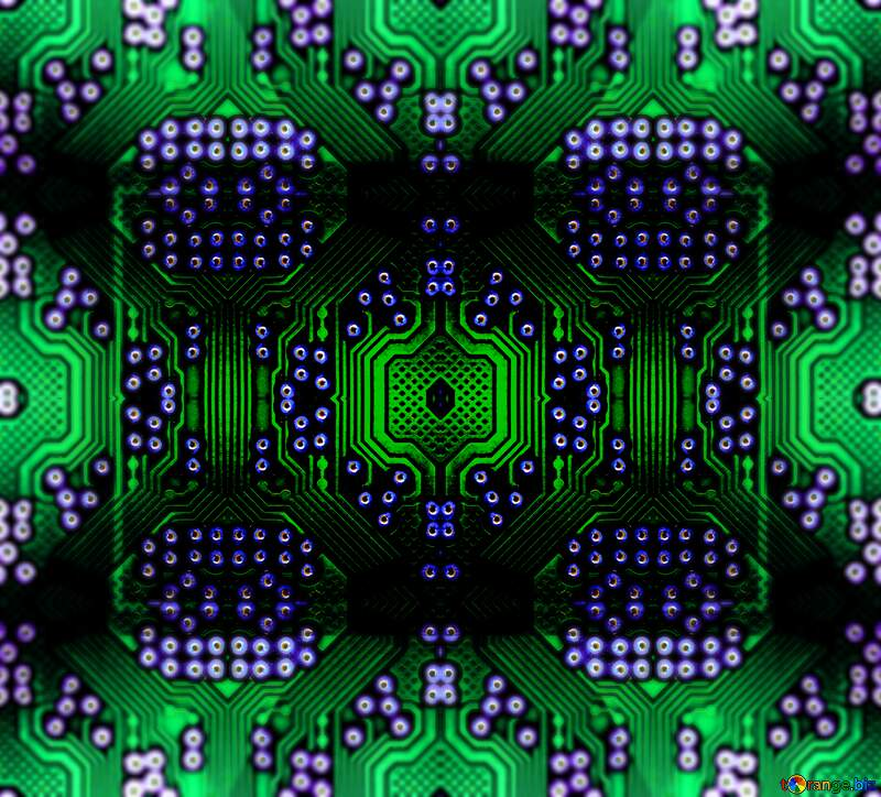 Electric blue visual arts symmetry graphics computer chip background pattern №51569