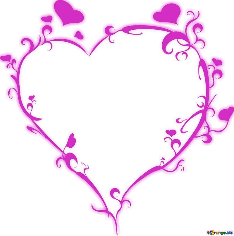 heart pink frame png №54721