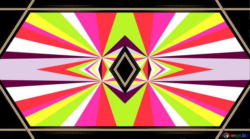 psicadelic Colors rays №49661