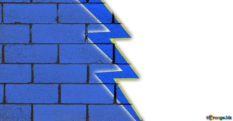 VS Youtube thumbnail transparent background wall blocks blue №54836