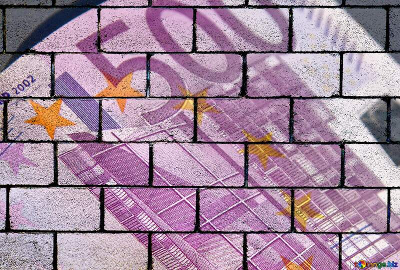 The wall blocks Euro currency 500 №5906