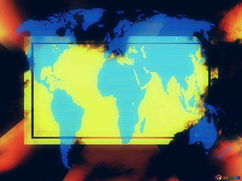 Graphics blurry man living computer world concept global background №22604