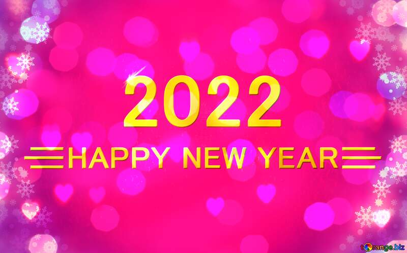 Pink christmas happy new year 2022 purple shiny background graphic design text №40659