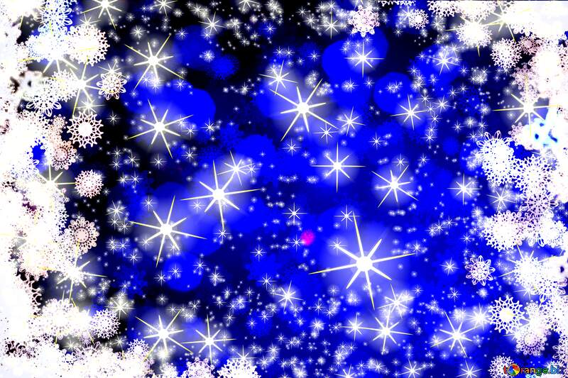 Blue snowflakes background №40708
