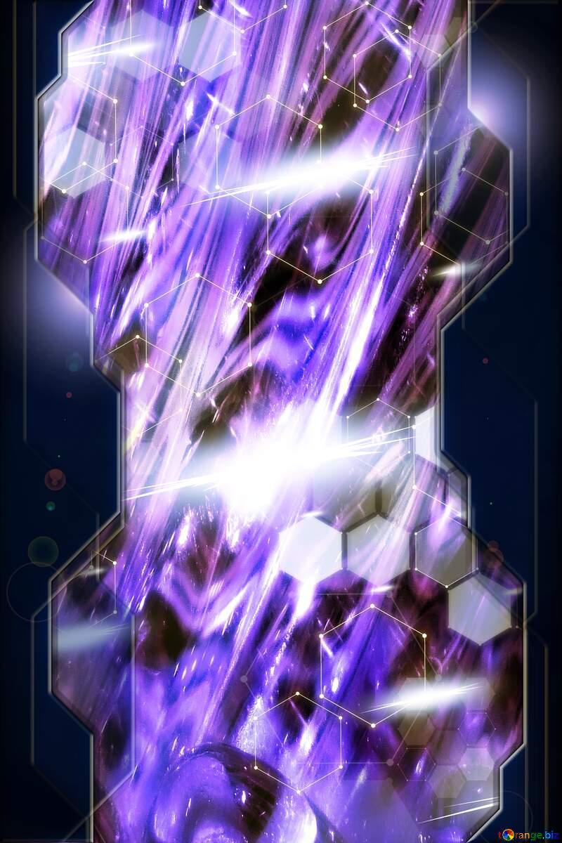 Blue tech  vertical banner background №37815