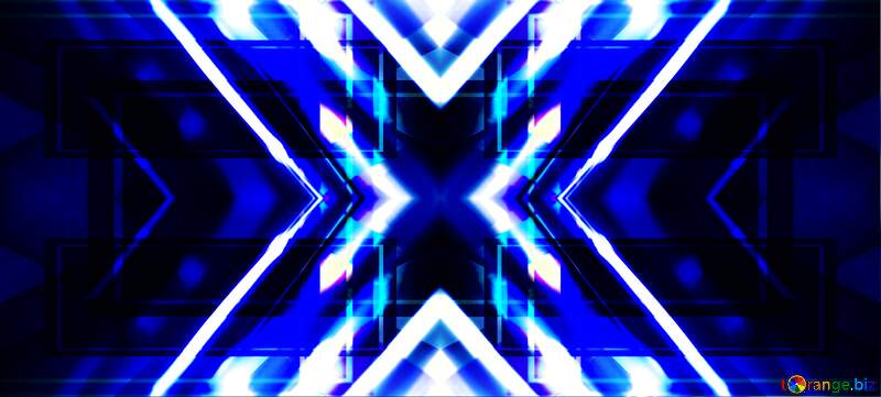 blue and white x on black background №1700