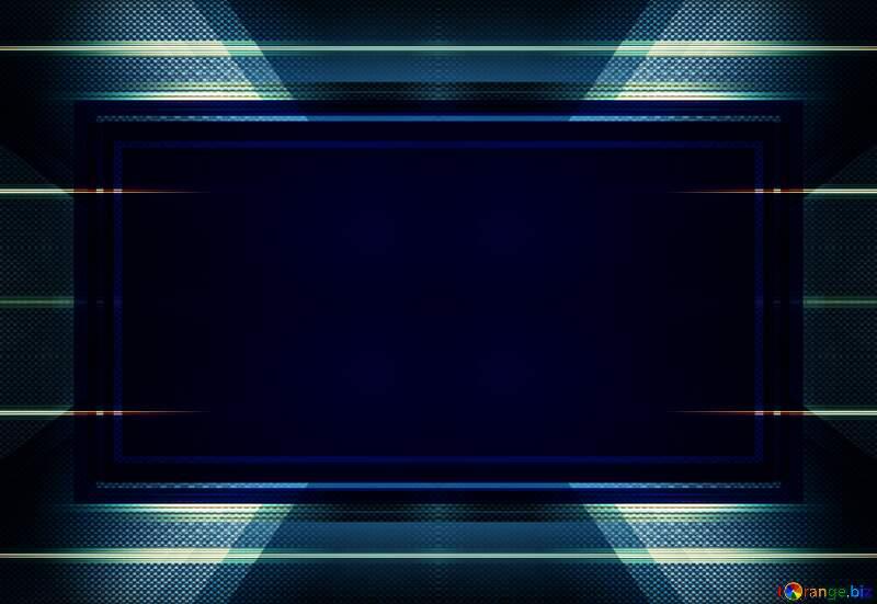carbon blue dark  frame powerpoint infographic template design №54465