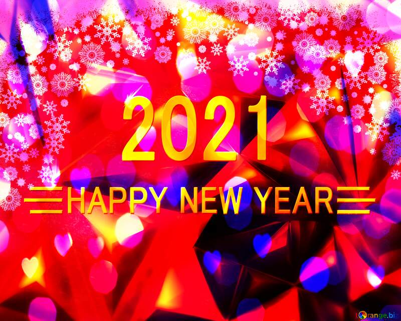 Christmas 2021 happy new year polygon background №40659