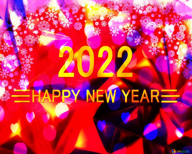 Christmas 2022 happy new year polygon background №40659