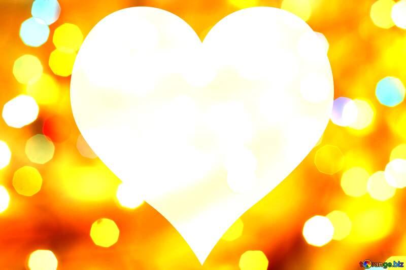 Christmas Heart shaped frame background №24617
