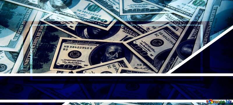Geometrical dollar bills powerpoint background №54809