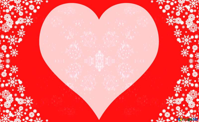 Red Christmas heart background №40659