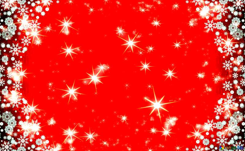 Red Christmas stars holiday background №40659