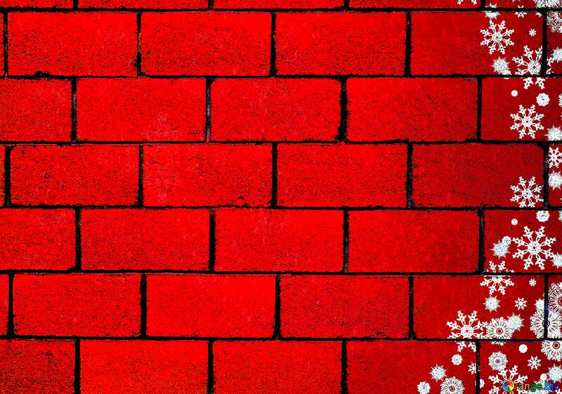 Red Christmas wall background №40659