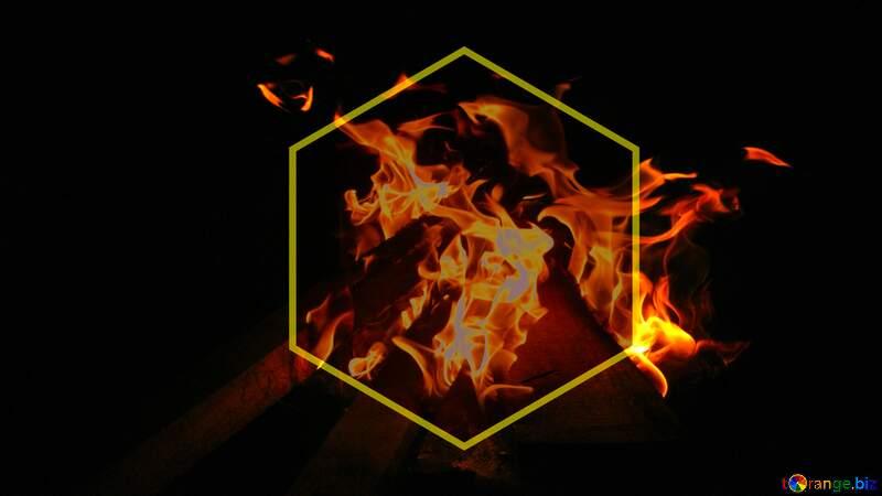 Science Fire dark  background №54841