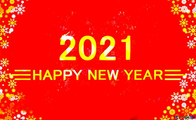 Bright red christmas happy new year 2021 background №40659