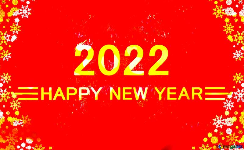 Bright red christmas happy new year 2022 background №40659