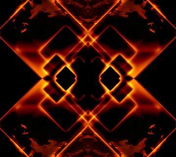 Fire glow dark background