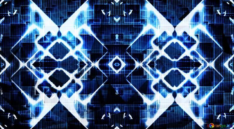 blue technology header design background №54757
