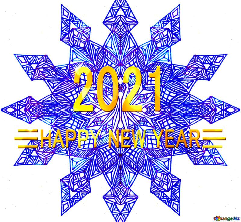 2021 Snowflake graphic design visual arts  happy new year №54900