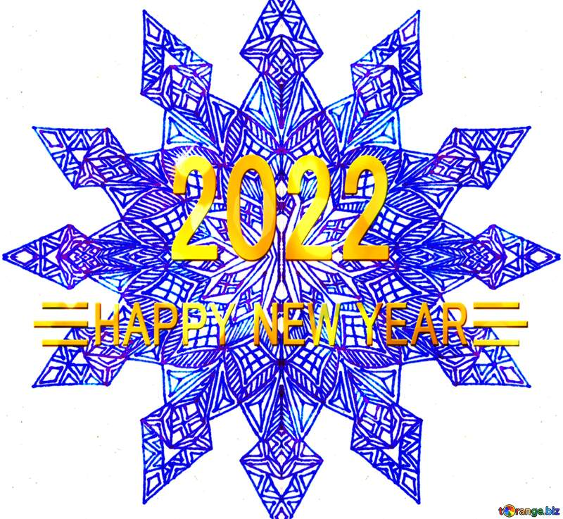 2022 Snowflake graphic design visual arts  happy new year №54900