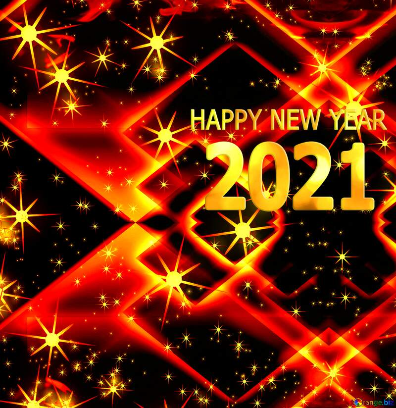 Abstract Happy new year 2021 background №54495