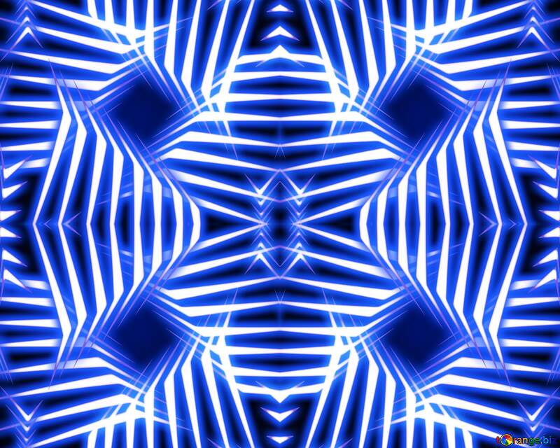 Azure blue symmetry pattern fractal art graphic design funny hd background neon glow №54904
