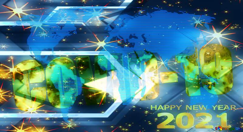 Covid-19 Happy new year 2021 background №54495
