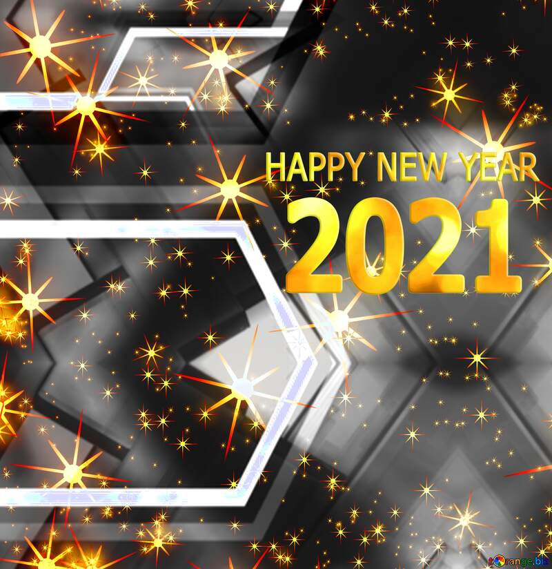 Gray Happy new year 2021 background №54495