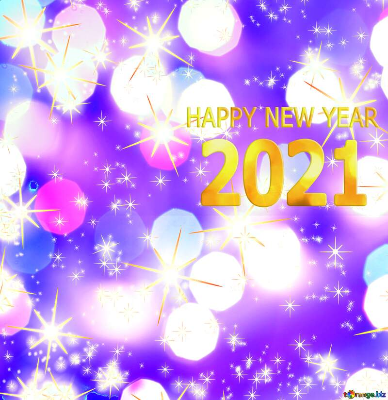 Happy new year 2021 holiday bright background №54495