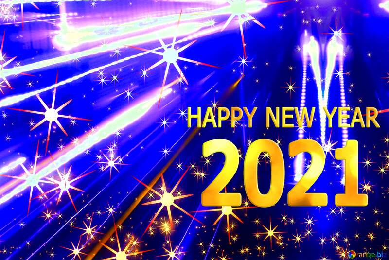 Happy new year 2021 neon Techno background №54495