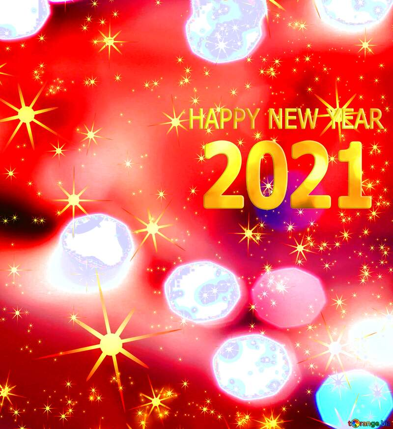 Happy new year 2021 red  holiday background №54495
