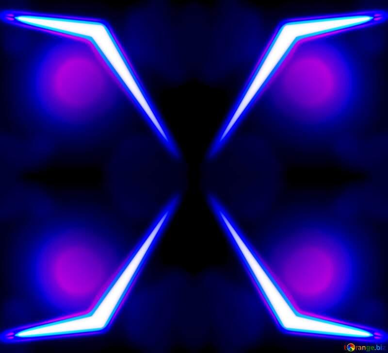 Neon X line background blue №54914