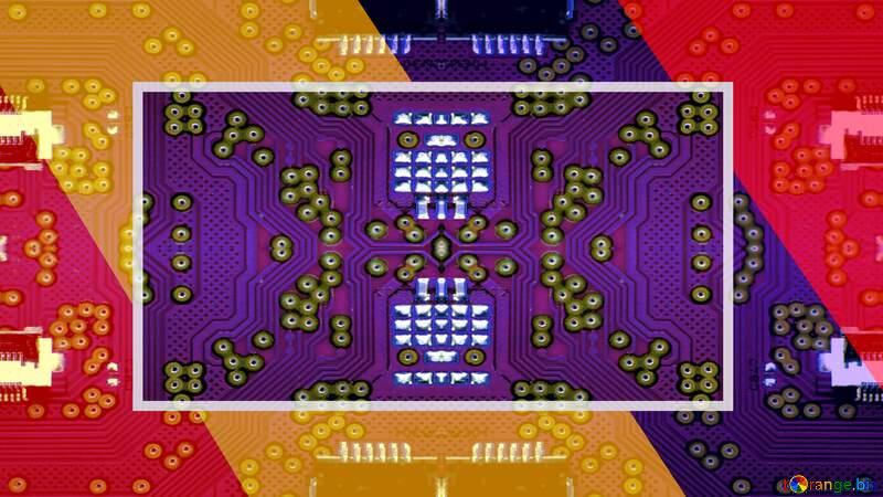 Electronic engineering visual arts design yellow purple games background №54869