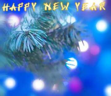 Эффект очень светлый. Очень яркие цвета. Эффект размытой рамки. Фрагмент. Card with text Happy New Year.