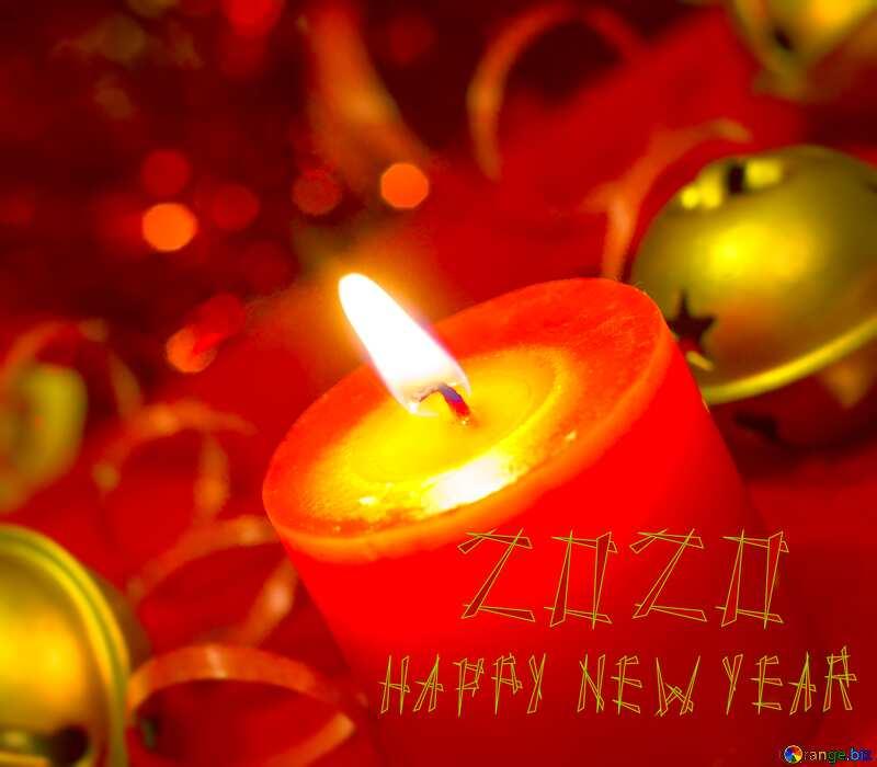 Новый год с красной свечой. №15036