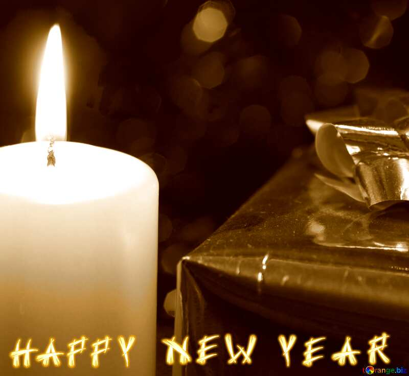 sepia happy new year card №15039