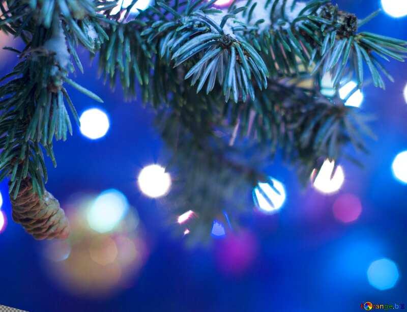 New Years tree lights №15316