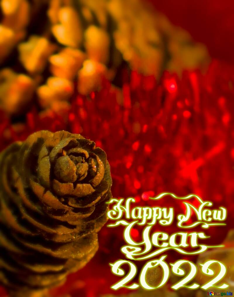 happy New year 2021 red  background №15033