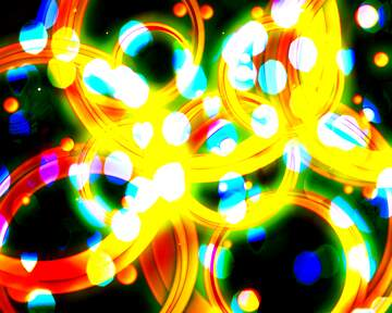 Abstract yellow lights  dynamic pattern wallpaper
